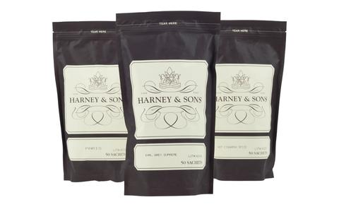Harney and Sons bulk bags of 50 sachets for convenience and better deal