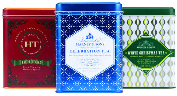 Harney and Sons specialty and seasonal collection consists of tins filled with 20 sachets of seasonal blends