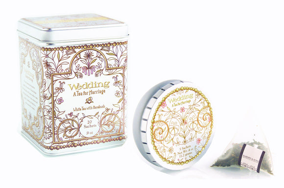 Harney and Sons Wedding Tea collection consisting of tins of various sizes