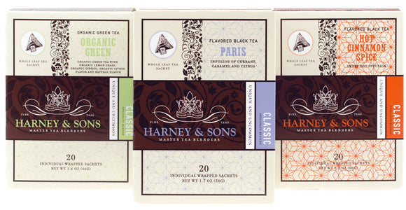 Harney and Sons Tea Sale, Individually Wrapped Sachets
