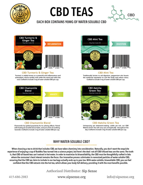 CBD Teas by Buddha Teas