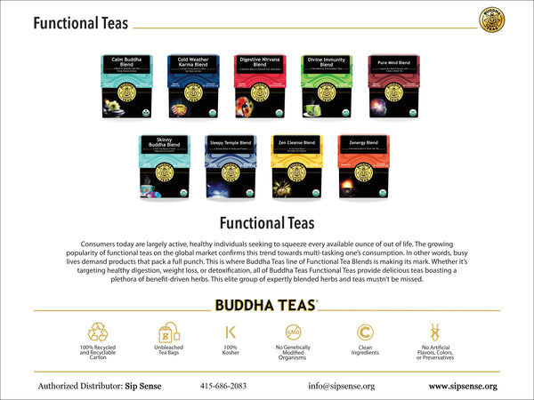 Functional herbal blends by Buddha Teas