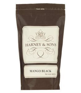 Mango Black tea, flavored black tea, bag of 50 sachets, Harney and Sons - Sip Sense