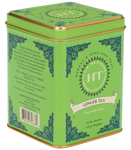 GINGER TEA, HT TIN OF 20 SACHETS - Sip Sense