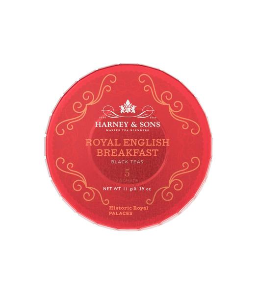 ROYAL ENGLISH BREAKFAST, TAGALONG TIN OF 5 SACHETS - Sip Sense