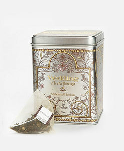 Wedding Tea - white tea with rose petals and vanilla, Tin of 20 sachets, Harney and Sons - Sip Sense