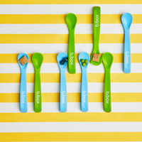 b.box baby spoon twin pack  - green/blue