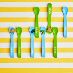 baby spoon twin pack  - green/blue