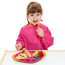 smock bib large - strawberry shake