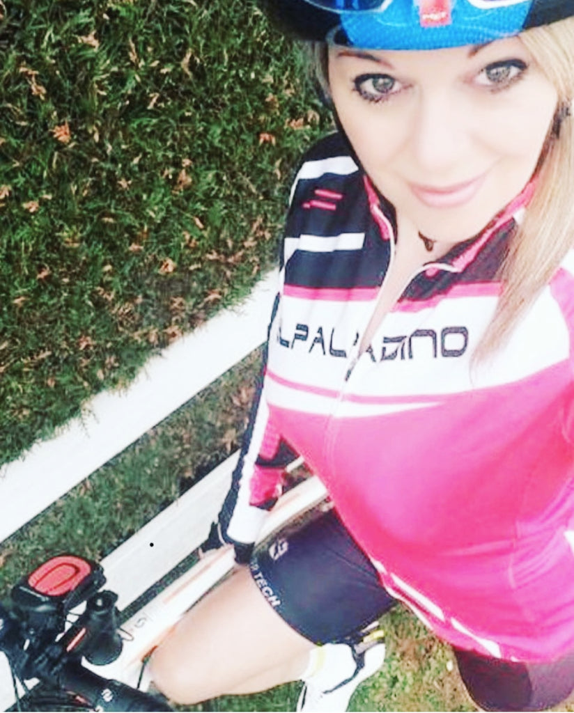 Selfie of Sweet Cycling Girl
