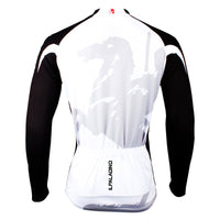 Men's Black-sleeve Long-sleeves  Cycling Jersey for Ultraviolet-Resistant Breathable and Quick Dry Outdoor Sportswear White Shirt Leisure Bicycle Fitness Clothing for Fall Autumn 002 -  Cycling Apparel, Cycling Accessories | BestForCycling.com