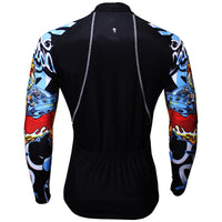 ILPALADINO Aggressive Dragon Cool Graphic Blue Arm Print Men's Cycling Long-sleeve Black Jerseys - Spring Summer Exercise Wear Bicycling Pro Cycle Clothing Racing Apparel Outdoor Sports Leisure Biking Shirts Team Kit Personalized Styles NO.373 -  Cycling Apparel, Cycling Accessories | BestForCycling.com