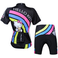 Cartoon World-HELLO KITTY Women's Long/short-sleeve Cycling Suit/Jersey Jacket T-shirt Summer Spring Autumn Clothes Sportswear Pro Cycle Clothing Racing Apparel Outdoor Sports Leisure Biking T-shirt Black Kit NO.025 -  Cycling Apparel, Cycling Accessories | BestForCycling.com