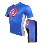 Marvel Comics Hero Short/Long-sleeve Cycling Jersey T-shirt Summer Spring Autumn Clothes Apparel Outdoor Sports Gear Leisure Biking Sportswear Captain American NO.040 -  Cycling Apparel, Cycling Accessories | BestForCycling.com