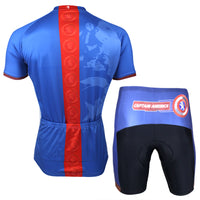 Marvel Comics Hero Short/Long-sleeve Cycling Jersey T-shirt Summer Spring Autumn Captain America NO.040 -  Cycling Apparel, Cycling Accessories | BestForCycling.com