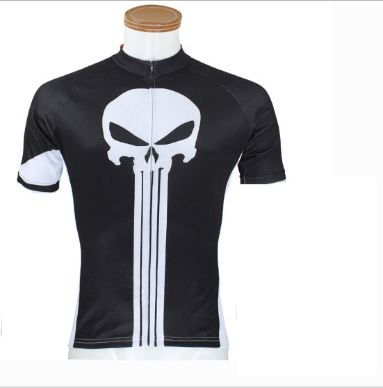 e310e1bf5 ILPALADINO White Skull Black Men s Bike Suit Cycling Jersey Road Mountain  Bike Wear Breathable Apparel Outdoor Sports Gear Leisure Biking T-shirt  NO.44