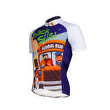 Ilpaladino School Bus Breathable Cycling Jersey Men's  Short-Sleeve Sport Bicycling Shirts Summer Exercise Bicycling Pro Cycle Clothing Racing Apparel Outdoor Sports Leisure Biking Shirts Quick Dry Wear NO.635 -  Cycling Apparel, Cycling Accessories | BestForCycling.com