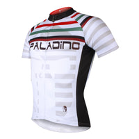 Multi-Strip White Men's Short-Sleeve Cycling Jersey Bicycling Shirts Summer NO.704 -  Cycling Apparel, Cycling Accessories | BestForCycling.com