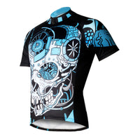 ILPALADINO Sick Skull Men's Cycling Jersey Fashion Bicycling Pro Cycle Clothing Racing Apparel Outdoor Sports Leisure Biking T-shirt  Black and Blue Comfortable Biking Apparel 738 -  Cycling Apparel, Cycling Accessories | BestForCycling.com