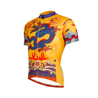 ILPALADINO Men's Cycling Jersey Dragon Imperial Robes Pattern MTB Mountain Bike Jersey for Summer Comfortable Bike Shirt Short Sleeve Outdoor Riding Clothes NO.634 -  Cycling Apparel, Cycling Accessories | BestForCycling.com