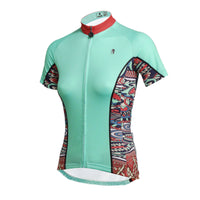 Ilpaladino Mint Green Summer Women's Short-Sleeve Cycling Suit/Jersey Biking Shirts Breathable Outdoor Sports Gear Leisure Biking T-shirt Sports Clothes NO.650 -  Cycling Apparel, Cycling Accessories | BestForCycling.com