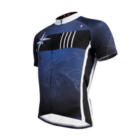 Ilpaladino Cloudy Sky Blue& Black Breathable Cycling Jersey Men's Short-Sleeve Apparel Outdoor Sports Gear Bicycling Shirts Summer Quick Dry  Wear NO.637 -  Cycling Apparel, Cycling Accessories | BestForCycling.com