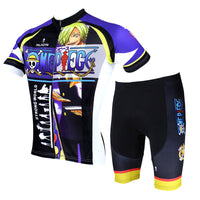 ONE PIECE Series Men's Short-sleeve Cycling Suit  T-shirt Summer Ace/Luffy/Zoro/Chopper/Brook/Usopp/Sanji/Franky -  Cycling Apparel, Cycling Accessories | BestForCycling.com