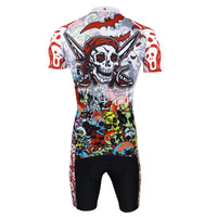 Pirate Skull Men's Short Sleeves Cycling Jersey Suit Spring Autumn Shirts 088 -  Cycling Apparel, Cycling Accessories | BestForCycling.com