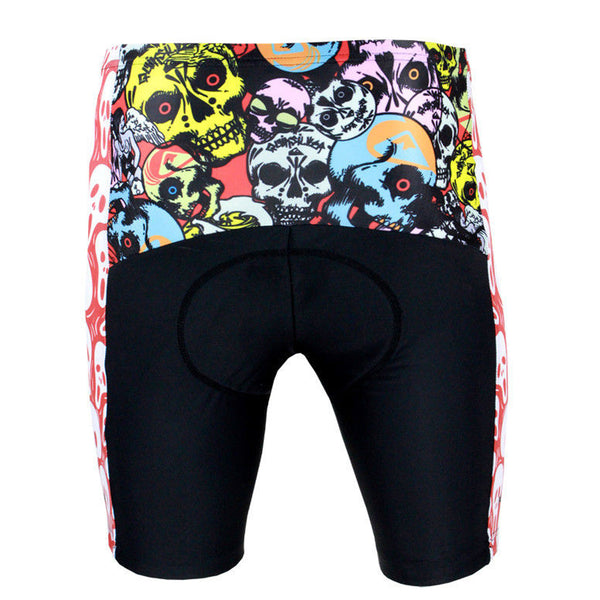 Skull Scream Cycling Padded Bike Shorts Spandex Clothing and Riding Gear Summer Pant Road Bike Wear Mountain Bike MTB Clothes Sports Apparel Quick dry Breathable NO. DK088