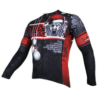 Hot Sale Cycling Jersey Cycling Clothing Wholesale Spring and Summer Men's Long-sleeved Jersey Santa Claus Design Christmas Gifts Black and Red(velvet) NO.090 -  Cycling Apparel, Cycling Accessories | BestForCycling.com
