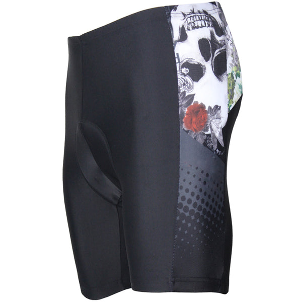Skull Anthemia Cycling Padded Bike Shorts Spandex Clothing and Riding Gear Summer Pant Road Bike Wear Mountain Bike MTB Clothes Sports Apparel Quick dry Breathable NO. DK091