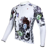 ILPALADINO SKULL Men's Long Sleeves Cycling Jersey  Pro Cycle Clothing Racing Apparel Outdoor Sports Leisure Biking T-shirt Spring Autumn NO.091 -  Cycling Apparel, Cycling Accessories | BestForCycling.com