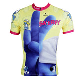 Ilpaladino The smurfs Man's Spring Summer Sportswear Short-sleeve Cycling Jersey Bicycling Pro Cycle Clothing Racing Apparel Outdoor Sports Leisure Biking T-shirt Cartoon World NO.095 -  Cycling Apparel, Cycling Accessories | BestForCycling.com