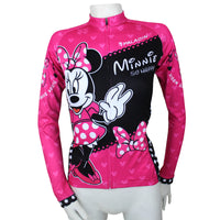 Ilpaladino Mickey Mouse's Girlfriend Minnie Woman's Short/Long-sleeve Cycling Jersey/Suit Sportswear Leisure Biking Shirt Cartoon World NO.096 -  Cycling Apparel, Cycling Accessories | BestForCycling.com