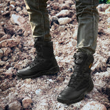 Mens Outdoor High Desert Boots Military Army Style Leather Tactics Waders Climbing Hiking Breathable Wear-resistant Black NO.31005 -  Cycling Apparel, Cycling Accessories | BestForCycling.com