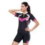 Flower Branches Blossom Night Purple Arrow Black Women's Cycling Short-sleeve Bike Jersey/Kit T-shirt Summer Spring Road Bike Wear Mountain Bike MTB Clothes Sports Apparel Top / Suit NO. 809 -  Cycling Apparel, Cycling Accessories | BestForCycling.com