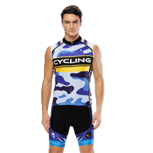 Blue Camo Men's Cycling Sleeveless Bike Jersey/Kit T-shirt Summer Spring Road Bike Wear Mountain Bike MTB Clothes Sports Apparel Top / Suit NO. 816 -  Cycling Apparel, Cycling Accessories | BestForCycling.com