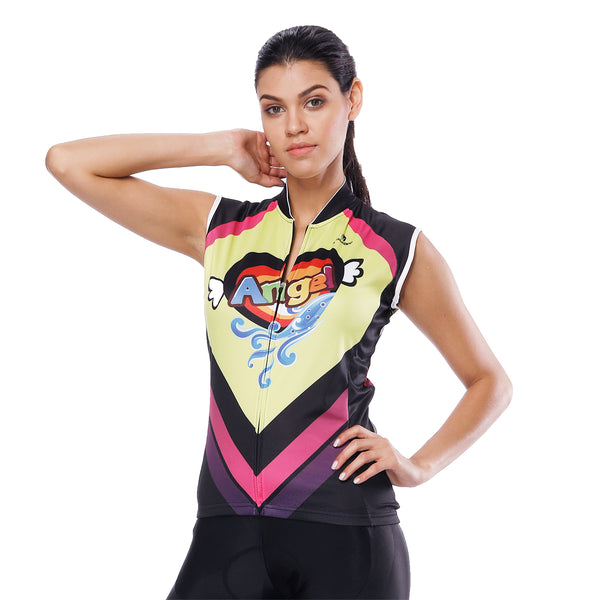 Heart Angel Cat Women's Cycling Sleeveless Bike Jersey/Kit T-shirt Summer Spring Road Bike Wear Mountain Bike MTB Clothes Sports Apparel Top / Suit/ Shorts NO.807 -  Cycling Apparel, Cycling Accessories | BestForCycling.com