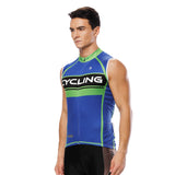 Green-Strip Blue Men's Cycling Sleeveless Bike Jersey/Kit T-shirt Summer Spring Road Bike Wear Mountain Bike MTB Clothes Sports Apparel Top / Suit / Shorts Pants NO. 818 -  Cycling Apparel, Cycling Accessories | BestForCycling.com