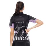 Black Cats Kitty Purple-side Women's Cycling Short-sleeve Bike Jersey T-shirt Summer Spring Road Bike Wear Mountain Bike MTB Clothes Sports Apparel Top NO. 799 -  Cycling Apparel, Cycling Accessories | BestForCycling.com