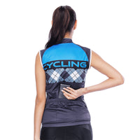 Blue Mesh Splicing Women's Cycling Sleeveless Bike Jersey T-shirt Summer Spring Road Bike Wear Mountain Bike MTB Clothes Sports Apparel Top NO. 797 -  Cycling Apparel, Cycling Accessories | BestForCycling.com