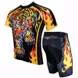 ILPALADINO Fire Tiger Cycling Rock Design Long/Short-Sleeve Men's Bike Shirt/Suit Breathable and Quick Dry Road Biking Wear Yellow NO.109 -  Cycling Apparel, Cycling Accessories | BestForCycling.com