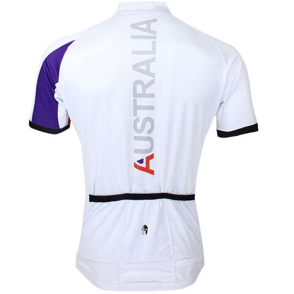 ILPALADINO Australia Simple White Man's Short-sleeve Cycling Jersey Team Jacket T-shirt Summer Spring Autumn Clothes Sportswear Racing Apparel  NO.053 -  Cycling Apparel, Cycling Accessories | BestForCycling.com