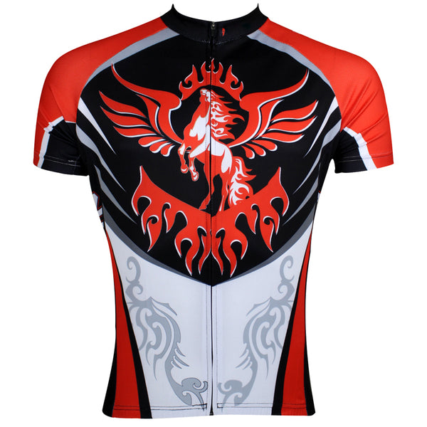 ILPALADINO Animal The Horse with the Flying Wing Man's Short-sleeve Cycling Jersey Team Kit Jacket Pro Cycle Clothing Racing Apparel T-shirt Summer Spring Suit Spring Autumn Clothes Sportswear NO.110 -  Cycling Apparel, Cycling Accessories | BestForCycling.com