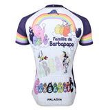 Famille de Barbapapa Rainbow Men's Short-Sleeve Cycling Jersey Breathable Sports Bicycling Shirts Summer Quick Dry Sportswear  NO.115 -  Cycling Apparel, Cycling Accessories | BestForCycling.com