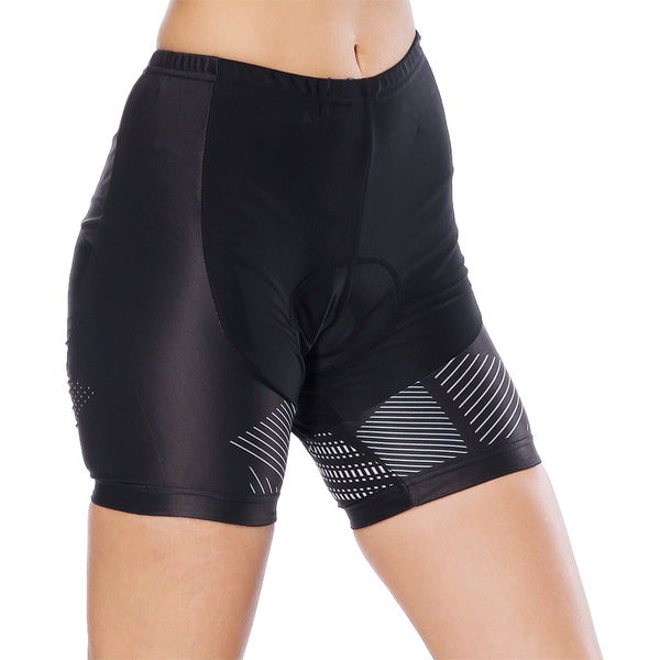 Broken Line Black Womans Cycling Spinning Padded Bike Shorts UPF 50+ NO. 795 -  Cycling Apparel, Cycling Accessories | BestForCycling.com