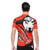 Wolverine Wolf Red Men's Cycling Short-sleeve Jersey Exercise Bicycling Pro Cycle Clothing Racing Apparel Outdoor Sports Leisure Biking Shirts Team Summer NO. 20NDX