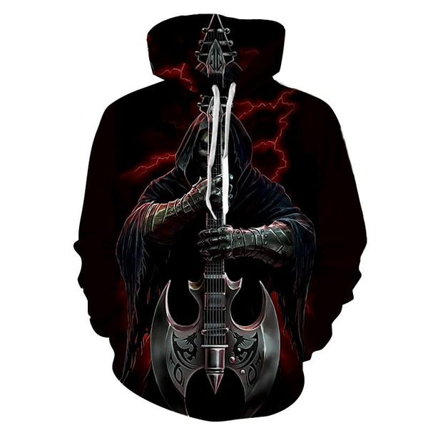 Death Black Skull Hoodies Sweatshirt Long Sleeve Hooded Pullover with Pockets Spring Autumn NO.1283 -  Cycling Apparel, Cycling Accessories | BestForCycling.com