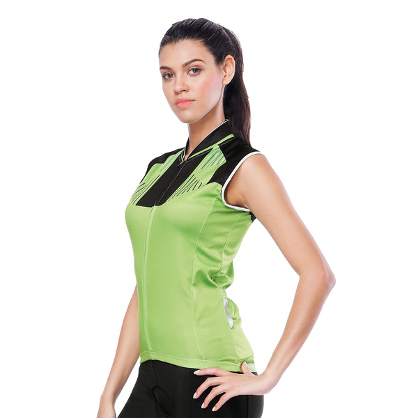 Grass Green Women's Cycling Sleeveless Bike Jersey T-shirt Summer Spring Road Bike Wear Mountain Bike MTB Clothes Sports Apparel Top NO. 802 -  Cycling Apparel, Cycling Accessories | BestForCycling.com