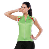 Green Women's Cycling Sleeveless Bike Jersey T-shirt Summer Spring Road Bike Wear Mountain Bike MTB Clothes Sports Apparel Top NO. 801 -  Cycling Apparel, Cycling Accessories | BestForCycling.com